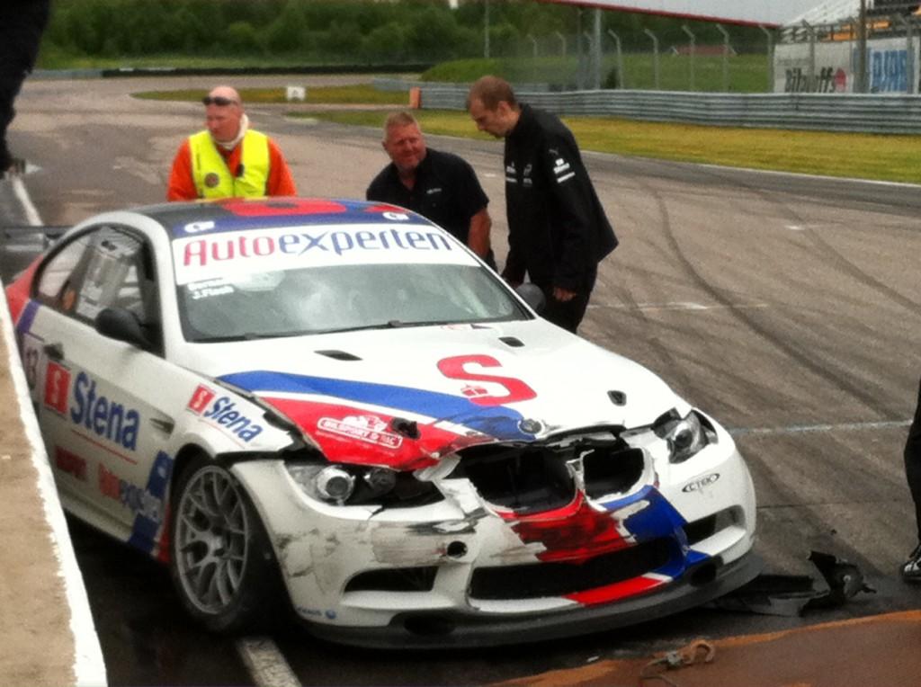Prins Carl Philips kraschade bil i Anderstorp
